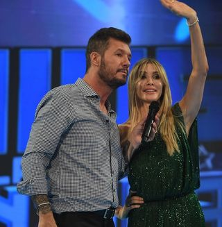 -Marcelo Tinelli y Guillermina Valdés-